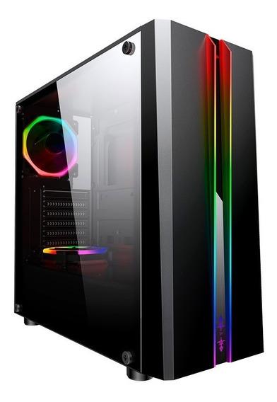 Gabinete Gamer Odyssey Preto Cg-04rd Painel Rgb Rainbow