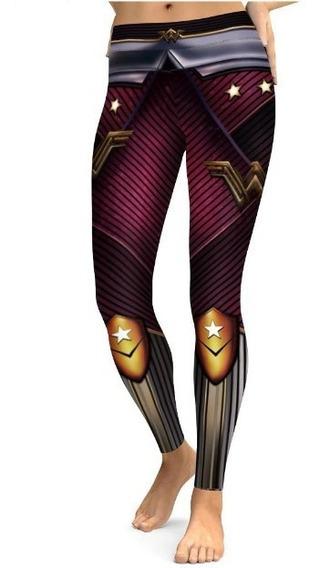Leggins Mujer Mallones Deportivos Yoga Dc Marvel Avengers