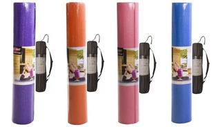 Tapete Yoga Mat Pilates 6mm Com Bolsa De Transporte Yangfit