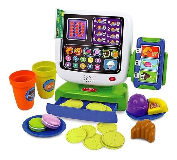 Caixa Registradora Infantil Led Touch Loja Cafe Divertido Ki