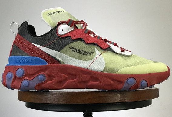 Zapatillas Nike React Element 87 Undercover Red/green/blue