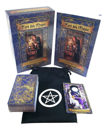 Tarô Dos Magos Livro Tarot 78 Cartas Brinde Estojo