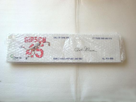 Placa Decorativa Gibson 45 Beisebal Madeira Ret - Nova N Est