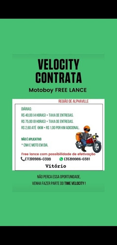Imagem 1 de 1 de Contrata Motoboy Delivery