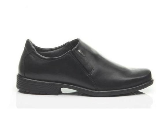 Sapato Social De Couro Preto Soft Masculino Pegada Original