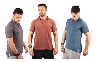 Kit 3 Camisas Polo Masculina Alto Padrao Blusa Camiseta Polo