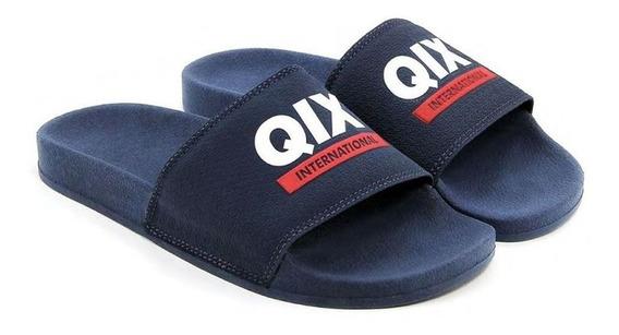 Chinelo Slide International Azul/branco Qix Promoção