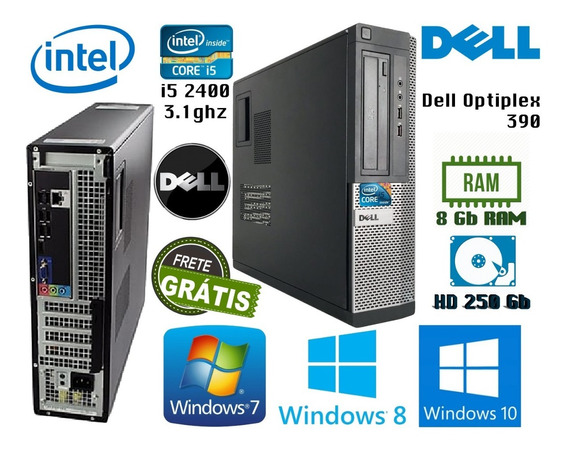 Computador I5 Dell Optiplex 390 Dt / 8gb Ram / 250gb Hd