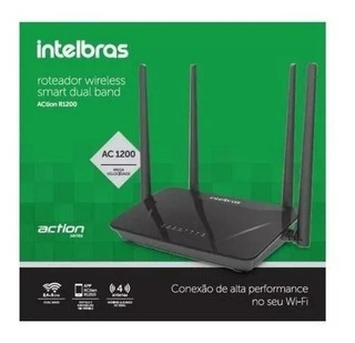 Roteador Wireless Action R1200 300mbps 4 Antenas - Intelbras