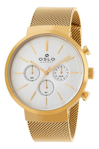 Relógio Oslo Omgsscvd0001 S1kx Aco Inox Feminino