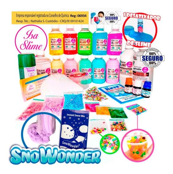 Kit Para Fazer Slime Premium Da Isa Slime + Frutinhas