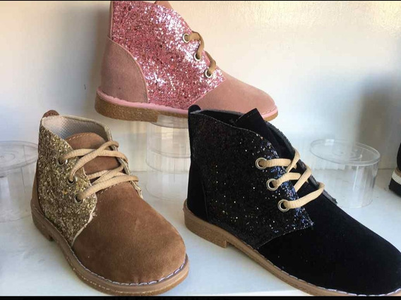 Chavitos Zapatos Nena Con Brillos Brillitos