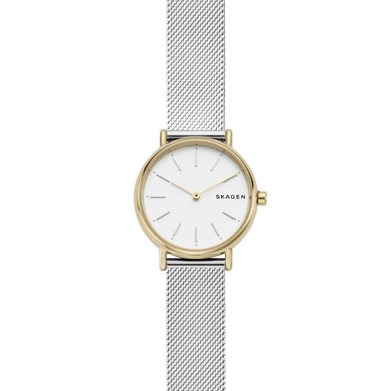 Reloj Dama Skagen Signatur Skw2729 Color Plata De Acero