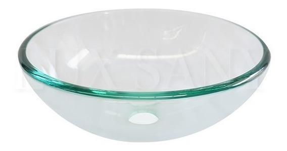 Lux Sany Ovalin-04 Lavabo Cristal Templado 31cm Con Bisel