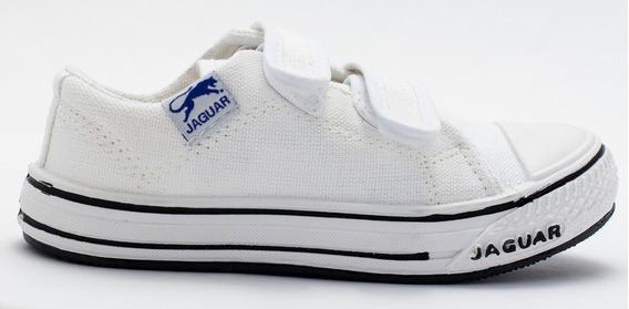 Zapatillas Zapatos Colegial Jaguar Con Abrojo 27 Al 33 G129