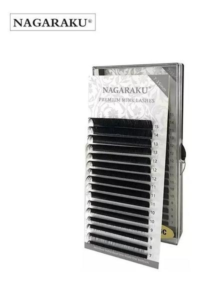 Pestañas Nagaraku Mix Curva C D Grosor .07 .15 .20