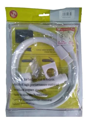 Ducha Telefono Plástico Blanco Manguera 1.20 Mtr Pack De 2