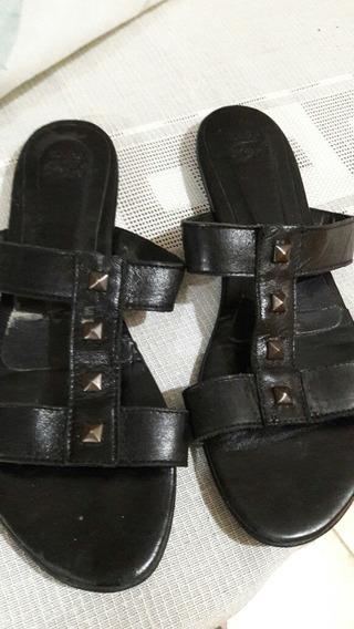 Sandalias Nro. 35 Zara. Negras. Cuero. ¡¡ Muy Buen Estado!!