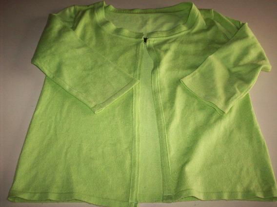 Saquito De Hilo Color Verde Lima