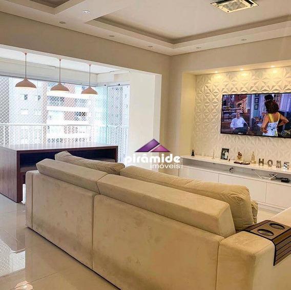 Apartamento Com 3 Dormitórios À Venda, 100 M² Por R$ 650.000 - Jardim Das Indústrias - São José Dos Campos/sp - Ap10910