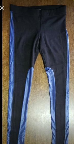 Calza Wanama Negra Con Azul A Los Costados Talle 40