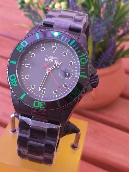 Relógio Invicta Pro Diver 23009 Black Pvd Novo E Original