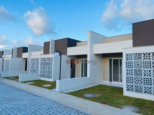 Imagem 1 de 9 de Casa Com 2 Dormitórios À Venda, 62 M² Por R$ 184.900,00 - Parque Das Árvores - Parnamirim/rn - Ca0019