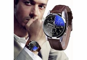 Relógios Quartz Luxo De Vidro Faux Homens Moda