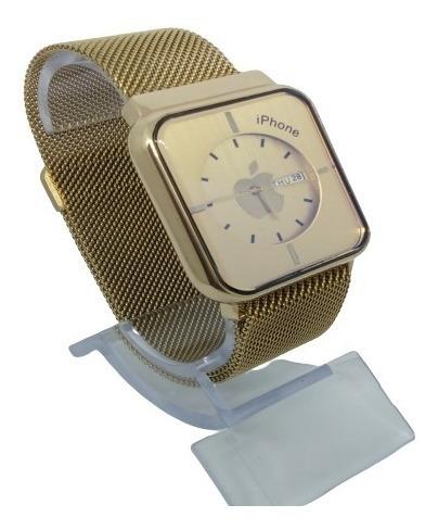 Relógio Grande Dourado Pulseira Magnética Barato Pesado