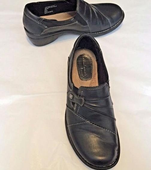 Zapatos Dama Talla 23 Mex\6m Usa 100% Piel Negros Envio Grat