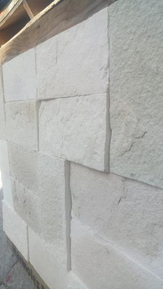 Cantera Blanca Galarza 40x20 Rústica Para Muro