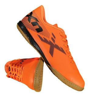 Chuteira Oxn Velox 2 Futsal Laranja