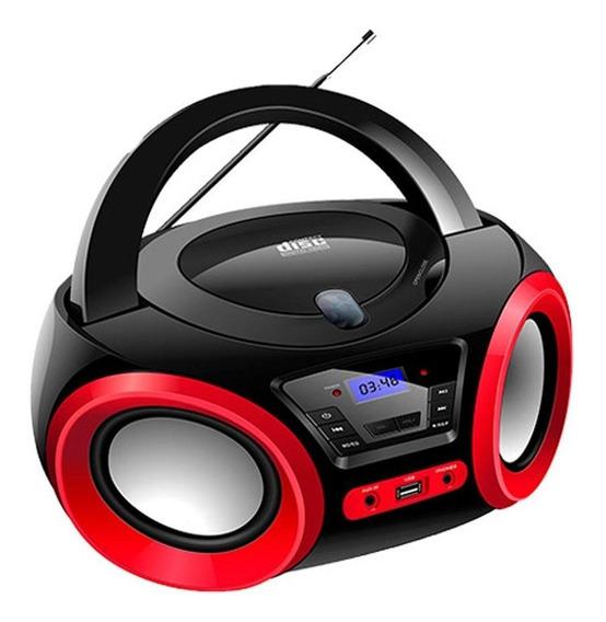 Radio Portatil Boombox Lenoxx Preto E Vermelho - Bd1370