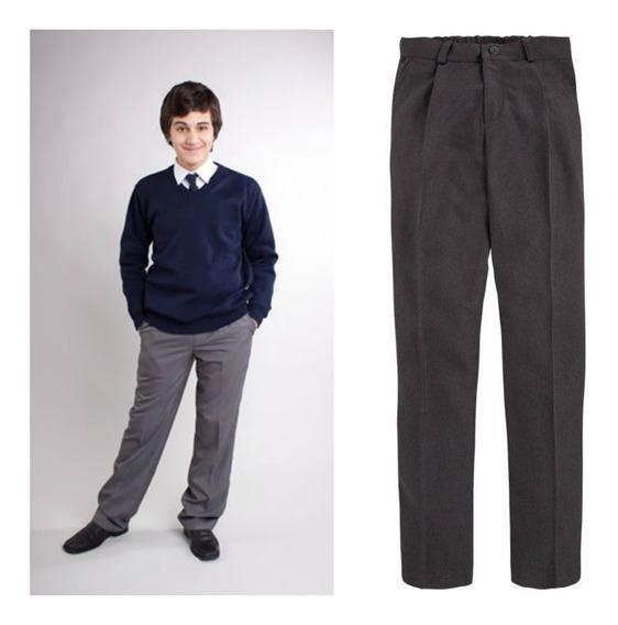 Pantalon Colegial, Talle 52 Al 54, Sarga, Gris, Excelente