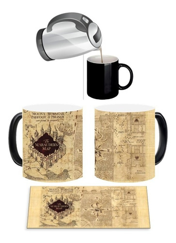 Mug Magico Harry Potter Mapa Del Merodeador