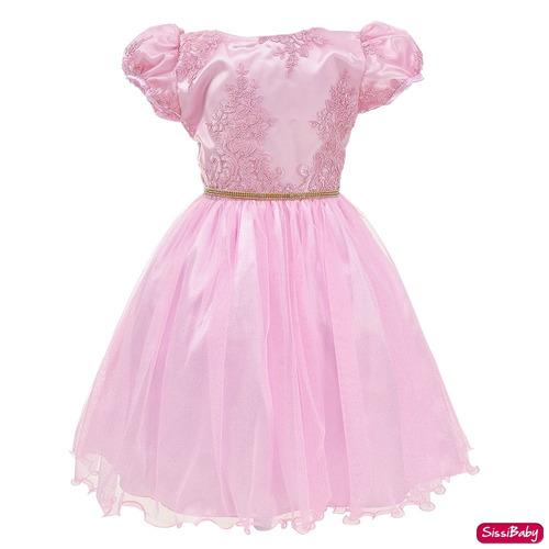 764d540a25 Meninas · De Festa · Tamanho 12 · Rosa · Vestido Festa Infantil Pequena  Sereia Ariel Luxo 4 A 16