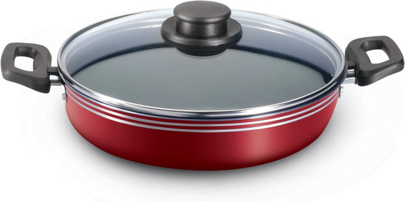 Arrocera Con Tapa De Vidrio 30 Cm Rojo Vasconia
