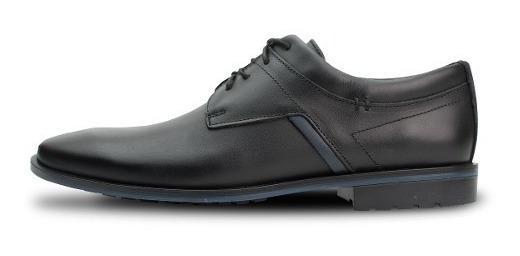 Zapato Casual De Piel Negro Atanado 4407