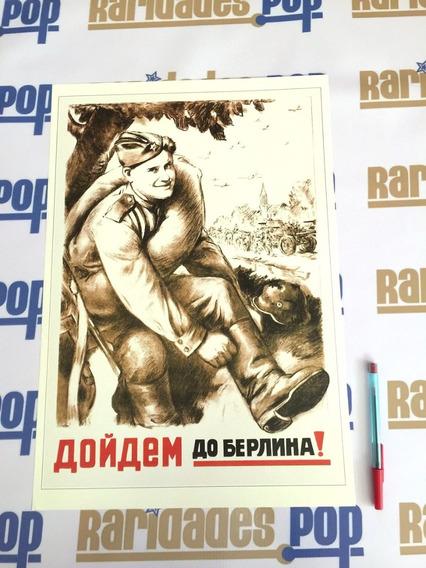 Cartaz Pôster 2ª Segunda Guerra Mundial 1944 Reich Nazismo