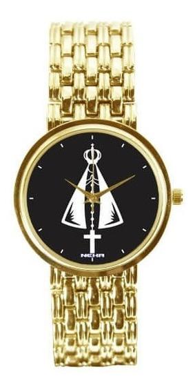 Relógio Feminino Dourado Nossa Senhora Aparecida 3330