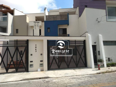 Sobrado Com 3 Dormitórios À Venda, 130 M² Por R$ 690.000 - Campestre - Santo André/sp - So2234