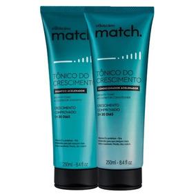 Match Tônico Crescimento Boticário Shampoo E Condicionador