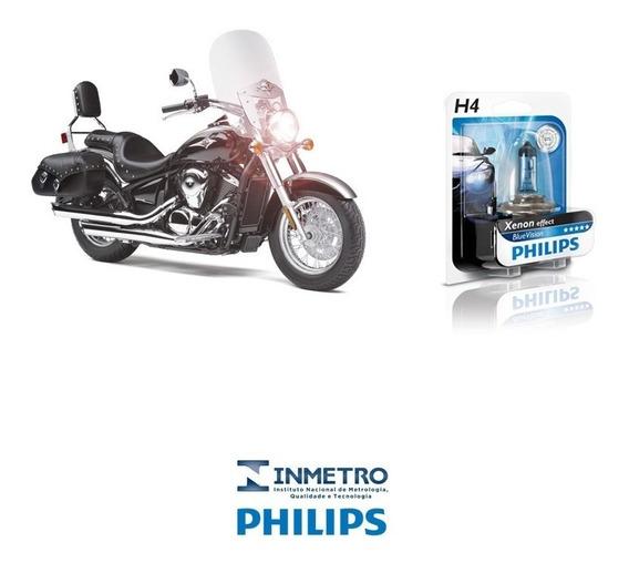 Lâmpada Moto Philips H4 P/ Kawasaki Vulcan 900 Efeito-xenon