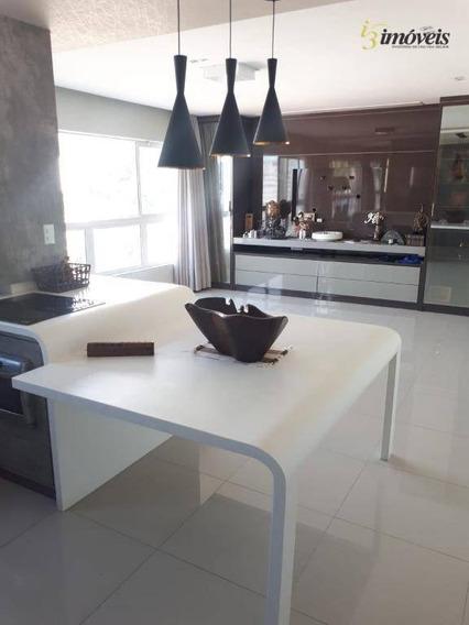 Aluguel Apartamento Fazenda Itajaí Semi Mobiliado Decorado Suíte Closet Vista Mar - Ap1919