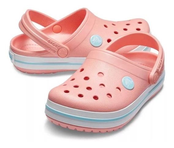 Crocs Mujer Rosa Melon Crocband Envio Gratis