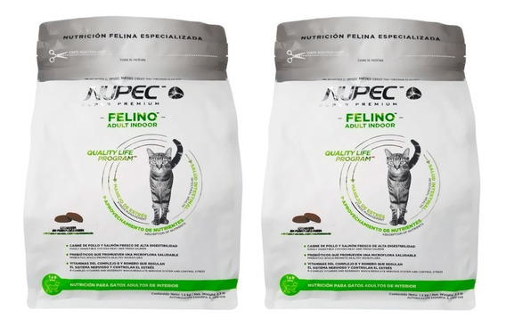 2 Nupec Felino Adulto Indoor 3kg (total 6kg)