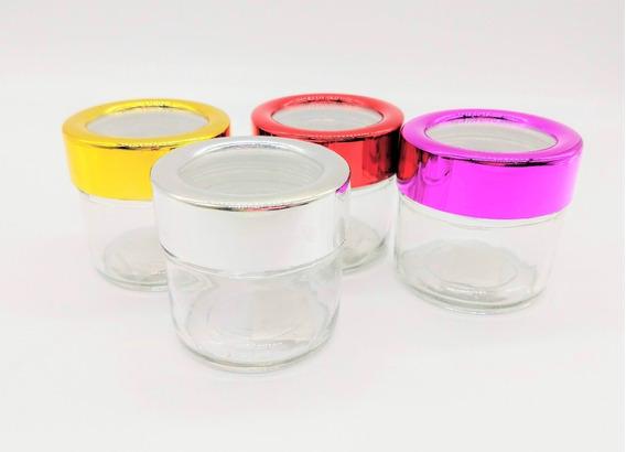 Frasco Vidrio Tapa A Rosca Color Aluminio 6 Cm Serbazares