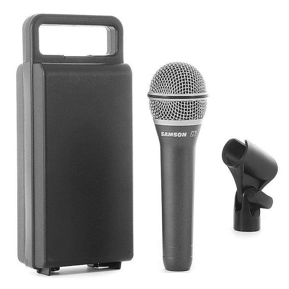 Microfone Dinâmico Profissional Samson Q7 (estojo-cachimbo)