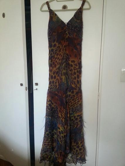 Vestido De Gasa De Seda De Camomille T Xl Fiesta