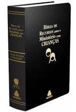 Bíblia Recursos Ministério Infantil Apec Luxo Preta Frete G